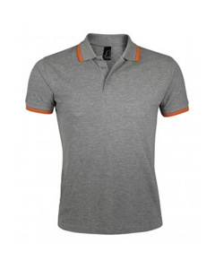 Sols Mens Pasadena Tipped Short Sleeve Pique Polo Shirt