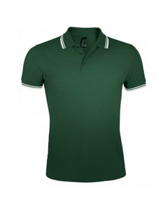 Sols Heren Pasadena Getipt Korte Mouw Pique Polo Shirt