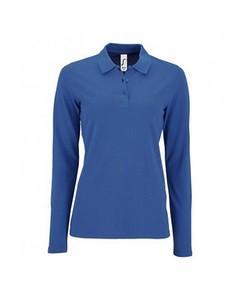 Sols Dames/dames Perfecte Lange Mouw Pique Polo Shirt