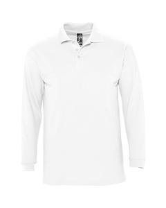 Sols Heren-winter Ii Poloshirt Met Lange Mouwen Van Piqué Katoen