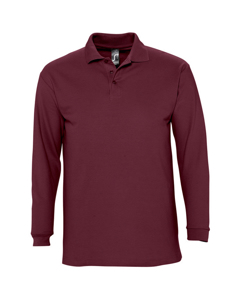 Sols Mens Winter Ii Long Sleeve Pique Cotton Polo Shirt