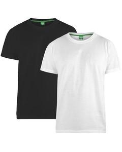 Duke Herren T-Shirt Fenton D555, Kingsize, Rundhalsausschnitt, 2er-Packung