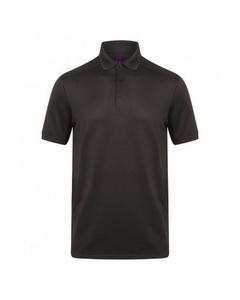 Henbury Mens Stretch Microfine Pique Polo Shirt