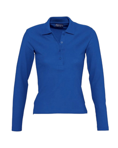 Sols Womens/ladies Podium Long Sleeve Pique Cotton Polo Shirt