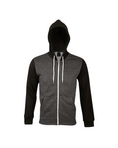 SOLS Silver Unisex Kapuzenjacke / Kapuzen-Sweatshirt mit Reißverschluss