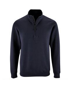 Sols Mens Stan Contrast Zip Neck Sweatshirt