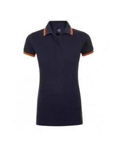 Sols Dames/dames Pasadena Getipt Korte Mouw Pique Polo Shirt