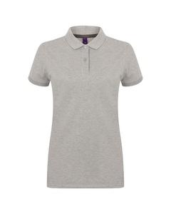 Henbury Dames/dames Poloshirt Met Microfijne Korte Mouwen