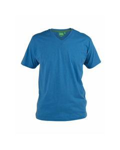 Duke Herren T-Shirt Signature 2 mit V-Ausschnitt, King Size, Baumwolle