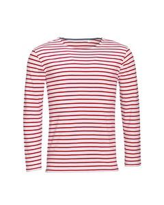 Sols Heren Marine T-shirt Met Lange Mouwen