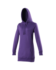 Awdis Girlie Womens Longline Hooded Sweatshirt / Hoodie