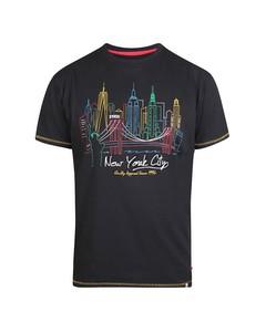 Duke Mens Shelby Kingsize New York Skyline T-shirt