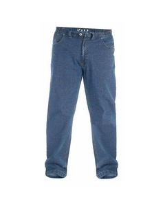 Duke London Herren Kingsize Bailey Jeans elastischer Bund
