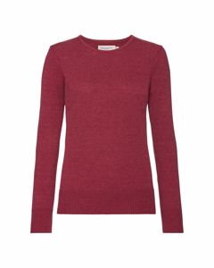 Russell Womens/ladies Cotton Acrylic Crew Neck Sweater