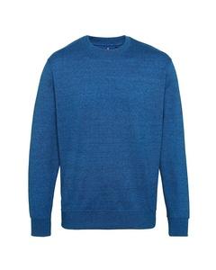 Asquith & Fox Mens Cotton Rich Twisted Yarn Sweatshirt
