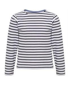 Asquith & Fox Childrens/kids Mariniere Coastal Long Sleeve T-shirt