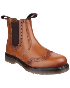Amblers Mens Dalby Pull On Brogue Boots
