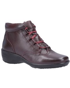 Fleet & Foster Womens/ladies Merle Lace Up Leather Ankle Boot