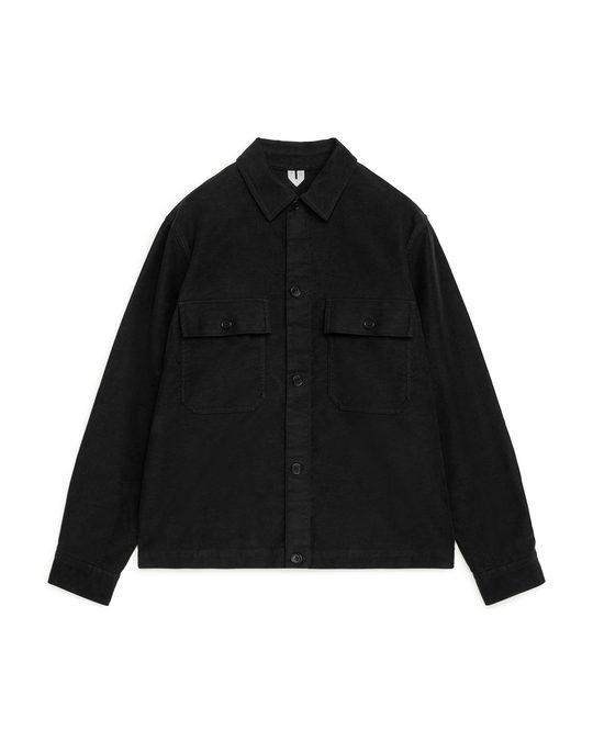 Arket Moleskin Overshirt Black