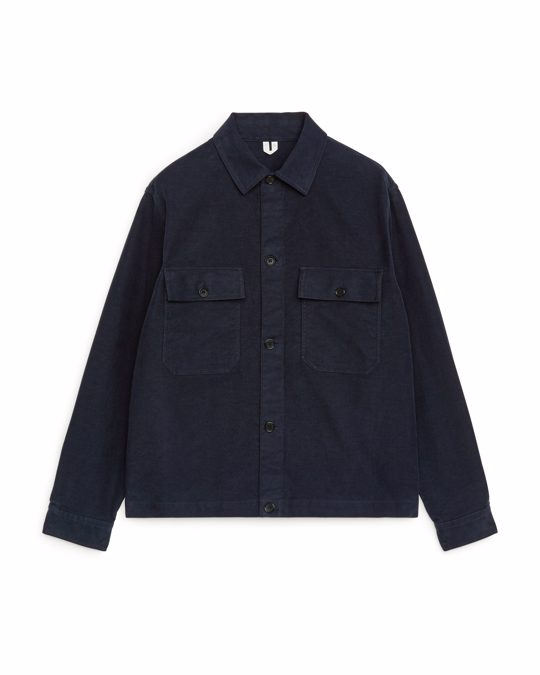 Arket Moleskin Overshirt Blue