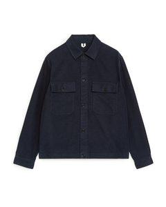 Moleskin-Overshirt Blau
