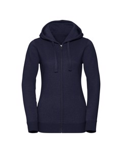 Russell Womens/ladies Authentic Zipped Hoodie