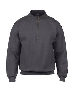 Gildan Vintage Pullover / Sweatshirt mit Reißverschluss am Kragen