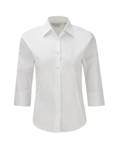 Russell Collection Ladies/womens 3/4 Sleeve Easy Care Fitted Shirt