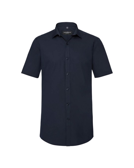 Russell Athletic Russell Mens Short Sleeve Stretch Moisture Management Work Shirt