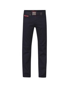 Duke London Mens Mario Bedford Cord Trousers With Belt