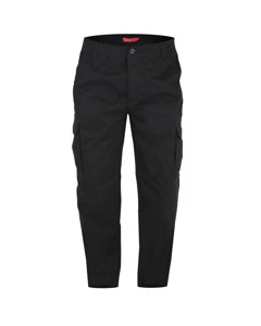 Duke Mens Robert-d555 Peached And Washed Cotton Cargo Trousers
