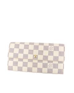 Louis Vuitton Damier Azur Sarah Long Wallet White