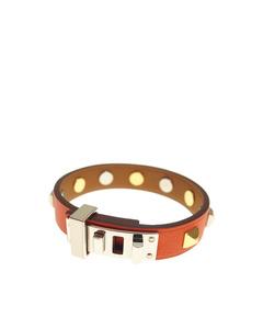 Hermes Mini Dog Square Crew Bracelet Orange