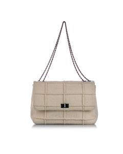 Chanel Choco Bar Patchwork Reissue Wool Single Flap Bag Brown