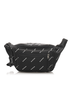 Balenciaga Explorer Nylon Belt Bag Black