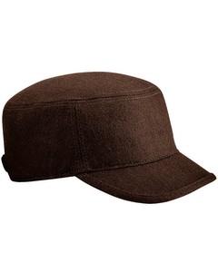 Beechfield Unisex Melton Wool Blend Cadet/army Cap (pack Of 2)