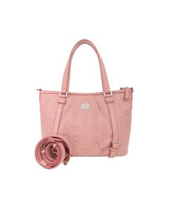 Mcm Visetos Leather Satchel Pink