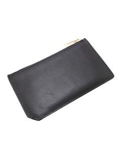 Ysl Leather Card Case Black