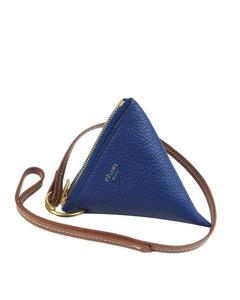 Celine Zip Leather Charm Blue