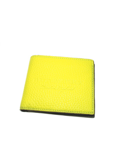 Burberry Bi-fold Leather Small Wallet Yellow