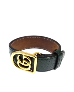 Gucci Gg Marmont Leather Bracelet Black
