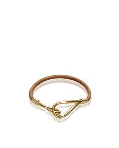 Hermes Leather Jumbo Hook Bracelet Brown