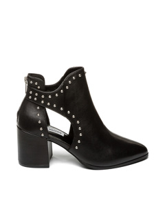 Justine Bootie Blk Leather