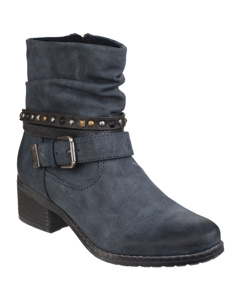 Divaz Womens/ladies West Low Heel Ankle Boots