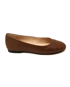 Flat Leather Ballerinas