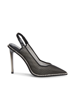 Savlamar Pumps Black Mesh
