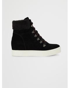 Windy High Sneaker Black Suede
