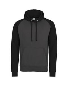 Awdis Just Hoods Adults Unisex Two Tone Hooded Baseball Sweatshirt/hoodie