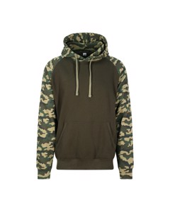 Awdis Gewoon Hoods Volwassenen Unisex Two Tone Hooded Honkbal Sweatshirt/hoodie