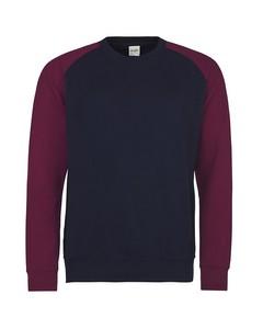 Awdis Herren Baseball Sweatshirt, zweifarbig